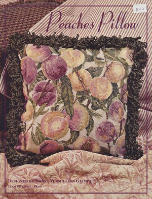 Peaches Pillow - (Cross Stitch)
