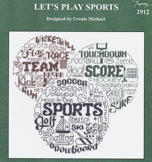Let's Play Sports - (Cross Stitch)