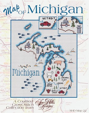 Map of Michigan - (Cross Stitch)