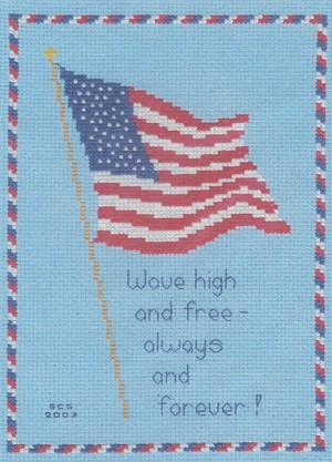 Cross Country Quotes >> Patriotic Flag - Counted Cross Stitch Pattern