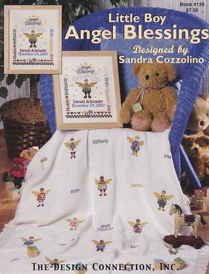 Little Boy Angel Blessings - (Cross Stitch)