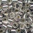 3/0 5.5mm Silver Glass Pebble Beads