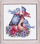 Patriotic Love Birds