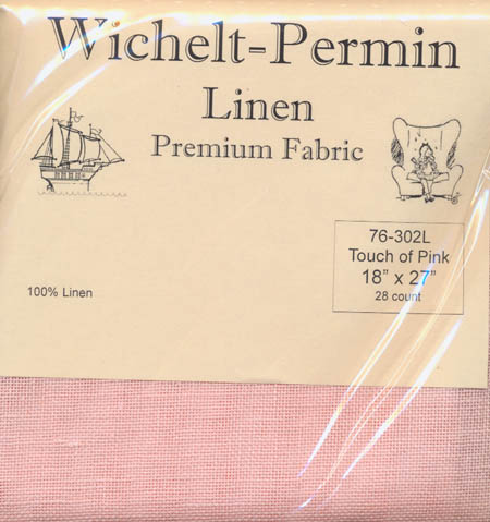 28 count Touch of Pink Linen 18