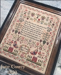 Jane Cowey 1850 Sampler