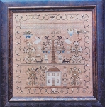 Maria Phinney 1832: Adam & Eve's House Sampler
