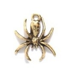 Antique Gold Spider Charm