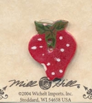 Strawberry Ceramic Button