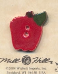 Small Apple Ceramic Button