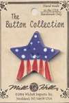 Star Flag Ceramic Button (Lg) Mill Hill #86184