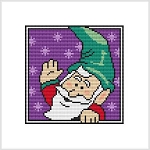 Country Christmas Coaster - Elf Wave