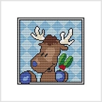 Country Christmas Coaster - Reindeer
