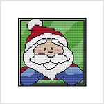Country Christmas Coaster - Santa