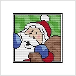 Country Christmas Coaster - Santa Bag