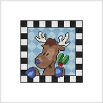 Country Christmas Block - Reindeer