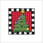 Country Christmas Block - Christmas Tree