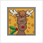 Country Christmas Block - Reindeer Holly