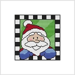 Country Christmas Block - Santa