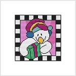 Country Christmas Block - Snowman Gift
