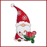 Santa Gnome Wheelbarrow