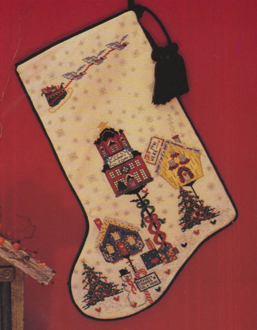 Birdville Christmas Stocking