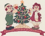 Decorate with Love at Christmas Raggedy Ann & Andy