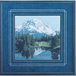 Mt. Rainier - (Cross Stitch)