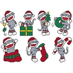 Christmas Sock Monkey Combo - (Cross Stitch)