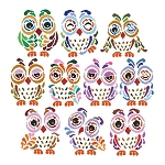 Art Deco Owls - (Cross Stitch)