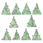 Art Deco Trees Collection - (Cross Stitch)
