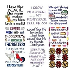 Needle Block Wonders 12 - Sayings - (Cross Stitch)