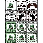 Needle Block Wonder 02 - Moose Country - (Cross Stitch)