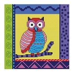 Crazy Patch Owl 12 - (Cross Stitch)