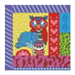 Crazy Patch Owl 06 - (Cross Stitch)