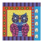 Crazy Patch Owl 04 - (Cross Stitch)