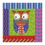 Crazy Patch Owl 01 - (Cross Stitch)