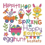 Easter Word Art - (Cross Stitch)