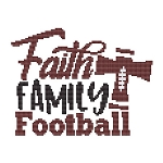Faith Family Football - (Cross Stitch)