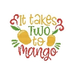 It Takes Two to Mango - (Cross Stitch)