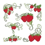 Strawberries - (Cross Stitch)