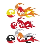 Bikes on Fire 4 - (Cross Stitch)