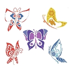 Summer Butterflies - (Cross Stitch)