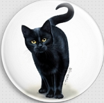 Amber Eyes Cat Needle Nanny  By Irina Garmashova-Cawton Gecko Rouge Needle Minder