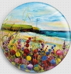 Beach Flowers Needle Nanny By Rozanne Bell - Gecko Rouge Needle Minder