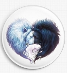 Brotherhood Lions Needle Nanny  by JoJoes Art Licensed Art Gecko Rouge Needle Minder - (Jonas Jödicke)