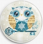 Buho Winter Owl Needle Nanny By Sandra Vargas Licensed Art Gecko Rouge Needle Minder