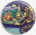 Cat and Fish Needle Nanny By Dorian Davies Spencer Art Gecko Rouge Needle Minder