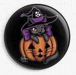 Hallo Halloween Cat Needle Nanny By Miss Cherry Martini Licensed Art Gecko Rouge Needle Minder