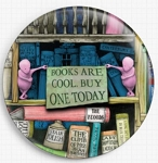 Neverending Stories Books are Cool Needle Nanny By Colin Thompson Licensed Art - Gecko Rouge Needle Minder