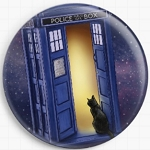 Police Box Cat Needle Nanny by Jenny Parks Licensed Art Gecko Rouge Needle Minder